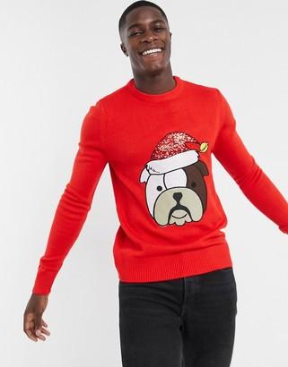 Brave Soul dog Christmas sweater