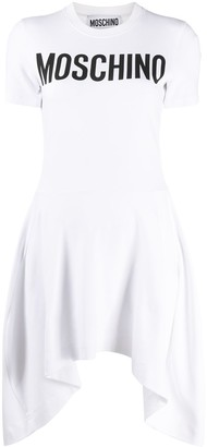 Moschino Logo Pleated Dress