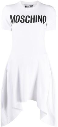 Moschino Logo Pleated Dress
