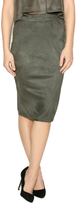 Iris Faux Suede Olive Skirt