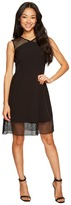 Tahari by Arthur S. Levine Petite Embroidery Trim Fit and Flare Dress Women's Dress