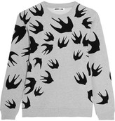 McQ Flocked Cotton-blend Terry Sweatshirt