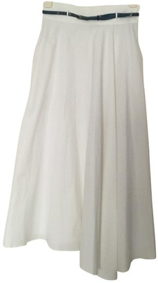 Theory White Cotton Skirt for Women