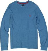 U.S. Polo Assn. Blue Waffle-Knit Long-Sleeve Tee
