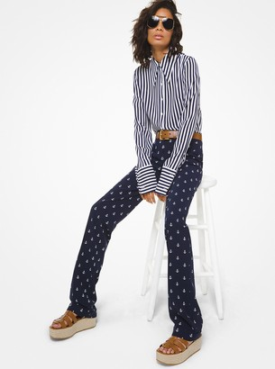 Michael Kors Collection Anchor Wool Serge Trousers