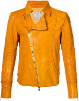 Guidi slim-fit biker jacket - men - Cotton/Horse Leather - 48