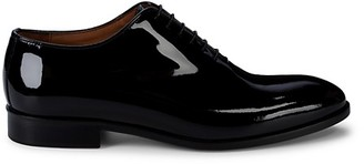 Massimo Matteo Wholecut Patent Leather Oxfords