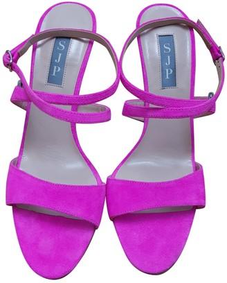 Sarah Jessica Parker Pink Suede Sandals