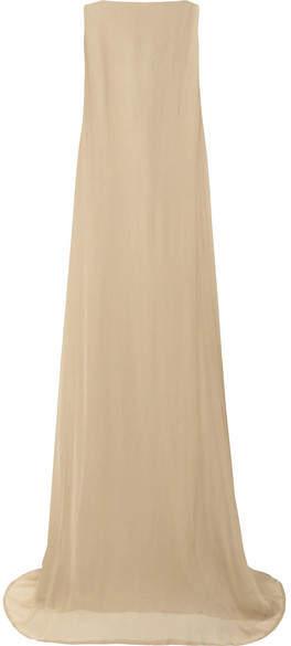 Ann Demeulemeester Silk-crepon Gown - Mushroom