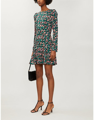 NEVER FULLY DRESSED Monaco leopard-print crepe dress