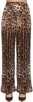 Dolce & Gabbana PRINTED SATIN WIDE LEG PANTS