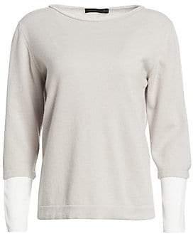 Fabiana Filippi Women's Cashmere & Stretch Silk Sweater