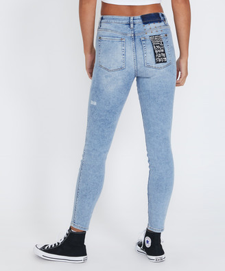 Ksubi Spray On Skinny Jeans Karma Blue