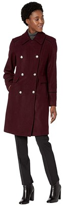 Vince Camuto Double Breasted Wool Coat V29768 (Port Royale) Women's Coat