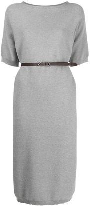 Fabiana Filippi Belted Knitted Midi Dress