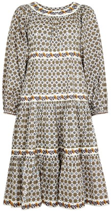 Tory Burch Printed tiered cotton dress