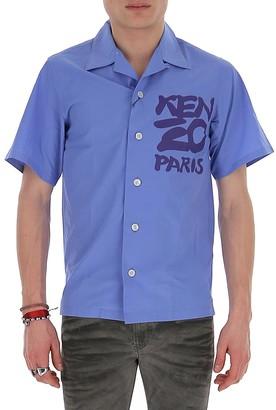 Kenzo Logo Printed Short Sleeve Shirt