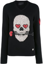 Philipp Plein sequin skull sweater - women - Polyamide/Cashmere/Virgin Wool - S