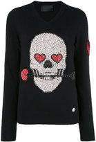 Philipp Plein sequin skull sweater