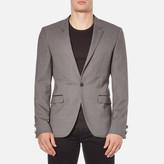 HUGO Men's Arenz Single Button Blazer Grey