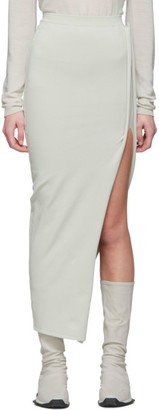 Rick Owens Off-White Stem Skirt