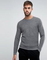 Calvin Klein Crew Neck Jumper In Texture