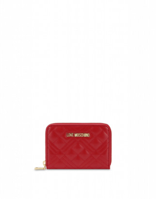 Love Moschino Quilted Zip Around Wallet Woman Red Size U It - (one Size Us)