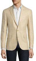 Polo Ralph Lauren Plaid Silk & Linen Blend Jacket