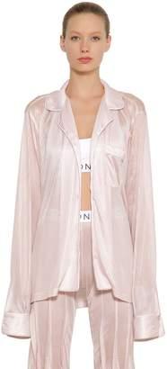 Faith Connexion Striped Viscose Pajama Shirt