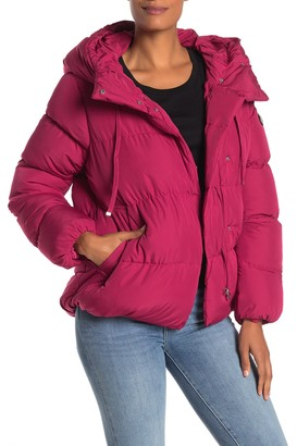 Jessica Simpson Hooded Asymmetrical Zip High/Low Puffer Jacket