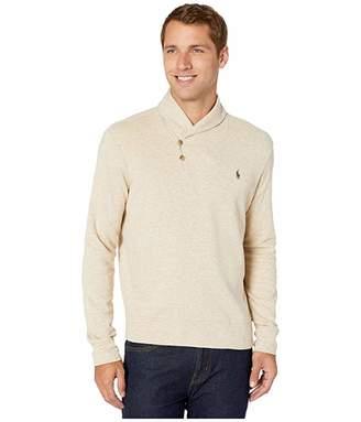 Polo Ralph Lauren Lux Jersey Shawl Collar Sweater