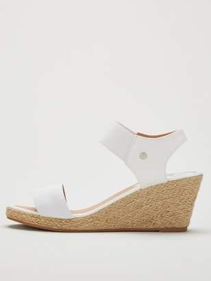 Wallis Elastic Strap Espadrille Wedges - White