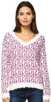 Women's White Mark Leopard Print Sweater
