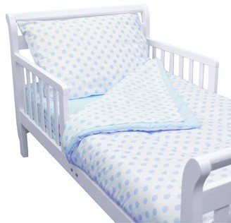 American Baby Company 100% Cotton Percale 4-piece Toddler Bedding Set, Blue Dot, for Boys and Girls