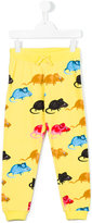 Mini Rodini Mr Mouse sweat pants - kids - Organic Cotton/Spandex/Elastane - 3 yrs
