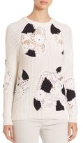 Derek Lam Crochet Long Sleeve Sweater