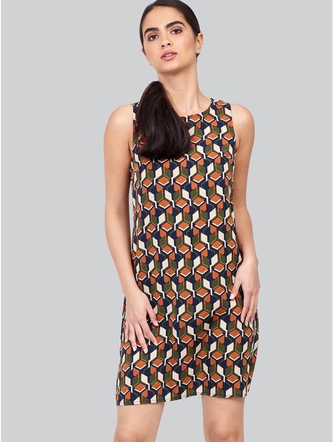 M&Co Izabel retro print shift dress