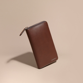 Burberry Smooth Leather Ziparound Wallet