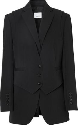 Burberry Waistcoat Overlay Blazer