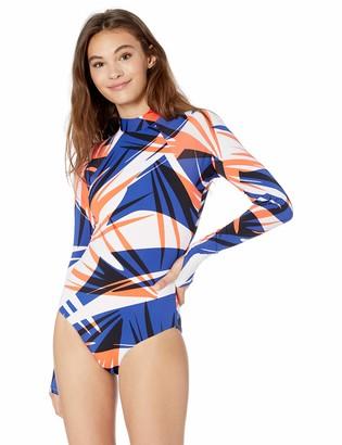 Bikini Lab Women's Zip Front Long Sleeve Body Suit