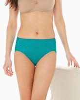 Soma Intimates Vanishing Tummy Paisley Lace High Leg Brief