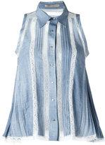 Ermanno Scervino lace inserts shirt - women - Viscose/Polyamide/Cotton - 36
