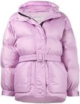 Ienki Ienki purple Michelin belted puffer jacket