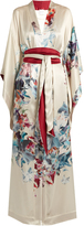 Carine Gilson Wonderland-print silk-satin robe