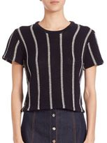 Theory Emmeris Ibisco Stripe Cropped Tee