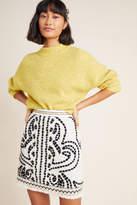 Maeve Carys Embroidered Mini Skirt