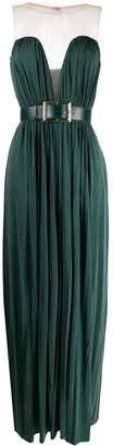Elisabetta Franchi belted V-neck dress