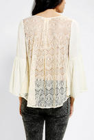Urban Outfitters Staring At Stars Lace-Back Bell-Sleeve Top