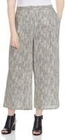 Eileen Fisher Plus Snake Print Cropped Wide Leg Pants