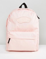 Vans Realm Backpack In Pink